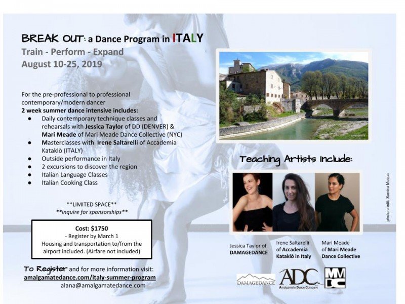 BREAK OUT 2019: A summer dance intensive in ITALY | Dance/NYC