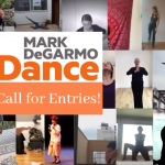 Collage of dancers in different squares from videos. Text reads: call for entries