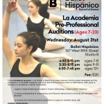 La Academia Pre-Professional Auditions