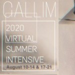 "On a shaded background, white text reads ""Gallim 2020 Virtual Summer Intensive August 10-14 &17;-21"""
