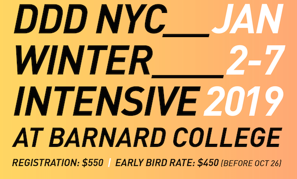 NYC Winter Intensive January 2-7, 2019