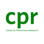 Image is the logo for Center for Performance Research consisting of the letters CPR in a forest green color