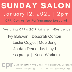 CPR Presents Sunday Salon on January 12, 2020 at 2pm