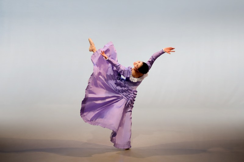 Photo of Graham 2 dancer Aoi Sato in Martha Graham's Appalachian Spring by Melissa Sherwood