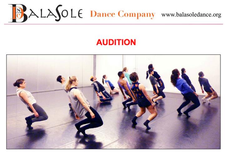Audition - NYC - BalaSole Dance Company | Dance/NYC