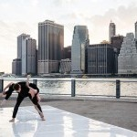 Company Members Amy Miller and Brandon Welch performing at Brooklyn Bridge Park as part of our dance-mobile summer series.