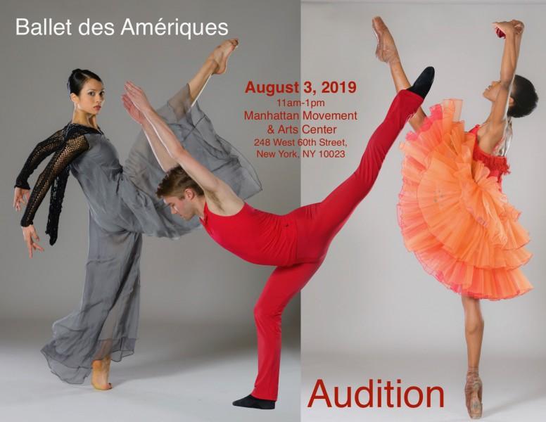 Ballet des Amériques Company Audition