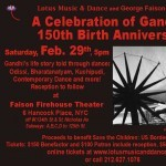 A Celebration of Gandhi's 150th Birth Anniversary, Feb. 29th - 5pm at Faison Firehouse Theater