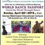 Featuring Lamine Thiam Senegalese Dance Group, Ajna Dance Bollywood, Sol La Argentina Flamenco Ensemble and more!
