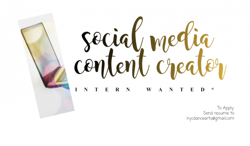 social media content creator intern