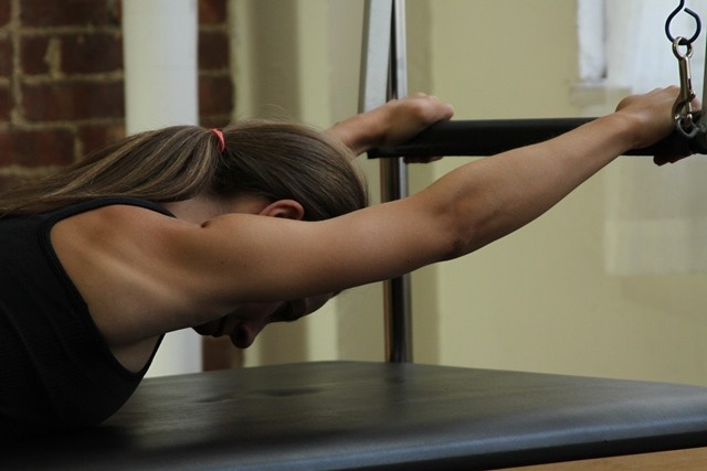In the Reformer/ Tower class, the Straps, and the Bars will guide you into the appropriate movement ranges during the exercises.