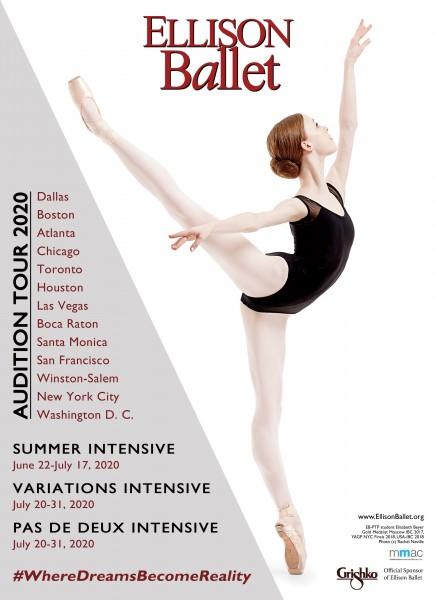 Boston Ballet Summer Intensive 2020.Ellison Ballet Audition Tour 2020 Dance Nyc