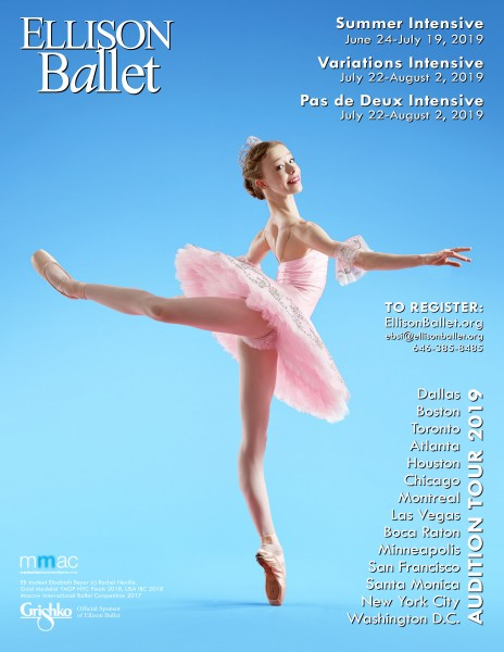 ELLISON BALLET - SUMMER INTENSIVE AUDITION TOUR - NYC AUDITIONS