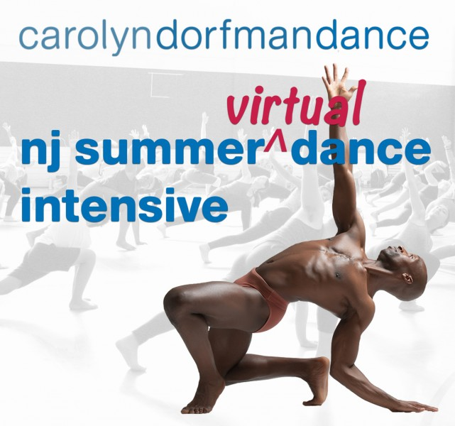 Carolyn Dorfman Dance - NJ Summer (Virtual) Dance Intensive - Photo of African American dancer kneeling and reaching up
