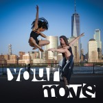 two dancers jumping in front of the new york city skyline