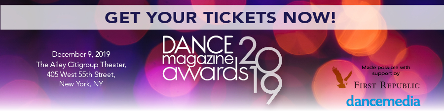 Get your tickets to the Dance Magazine Awards on December 9 at the Ailey Citigroup Theater.