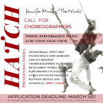 CALL FOR CHOREOGRAPHERS- Application Deadline March 1st!