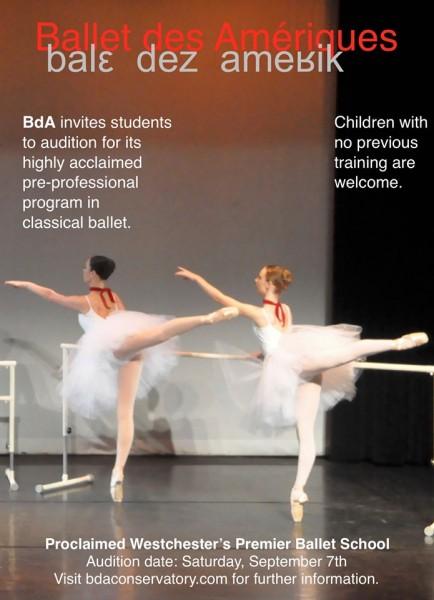 Ballet des Amériques Pre-Professional Conservatory Audition