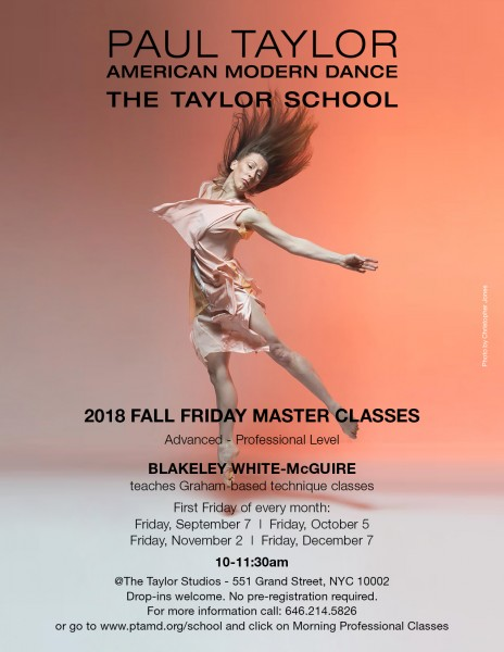 Poster for 2018 Graham Master Classes with Blakeley White-McGuire