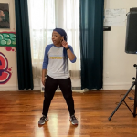 Keomi Tarver teaches hip-hop.
