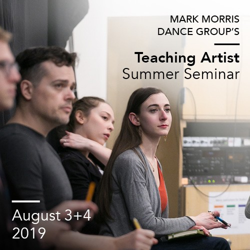 MMDG Teaching Artist Summer Seminar, August 3-4, 2019