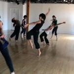 Dance students in movement