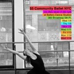 $5 Intermediate Advanced Ballet Classes this January