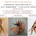 Photo of Erica, PeiJu & Ashley with pricing details for the workshop