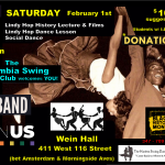 Feb 1st: 2pm to 6:30pm  Black History with Harlem's Dance the Lindy Hop!