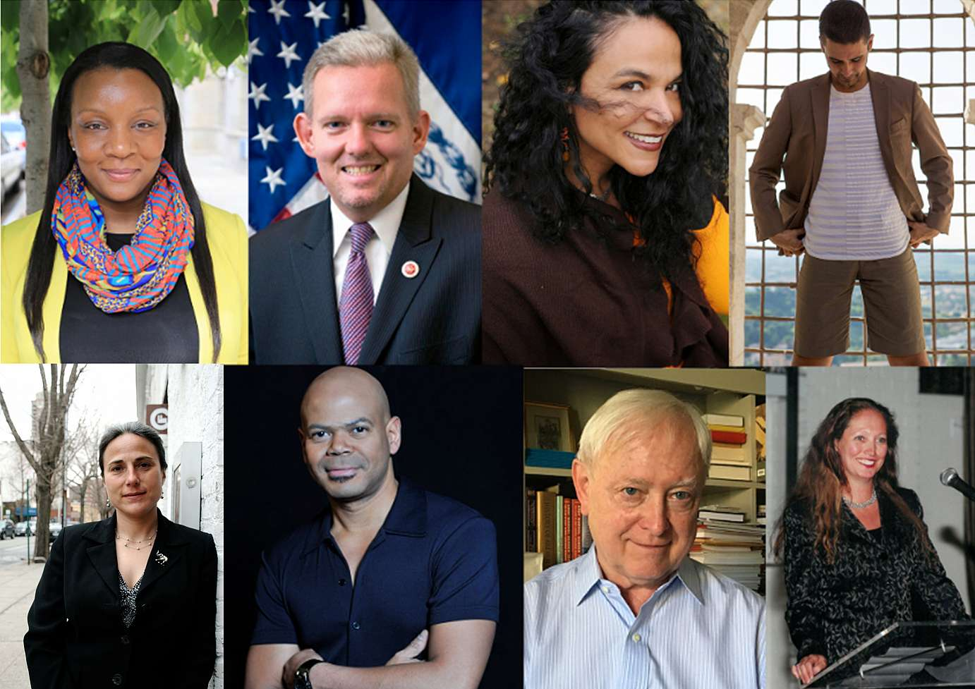 Images of keynote speakers and panelists: Jimmy Van Bramer, Jonah Bokaer, Gabri Christa, Simon Eccleston, Sheila Lewandowski, and Linda Shelton